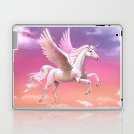 Flying unicorn at sunset Laptop & iPad Skin