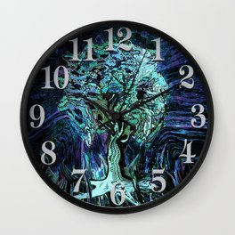 Starry Night Tree of Life Wall Clock