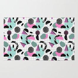 Joshin - memphis throwback retro pop art geoemetric pattern print unique trendy gifts dorm college Rug