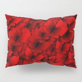 red butterflies Pillow Sham