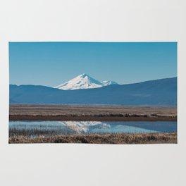 Mt Shasta Reflection Rug