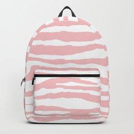 Blush Pink & White Animal Print Backpack