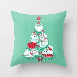 A Very Purry Christmas Throw Pillow