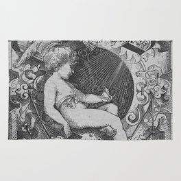 Cherub | Angels Vintage | Victorian | Sketch | Letter B Rug