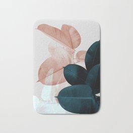 Blush & Blue Leaves Bath Mat