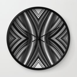 99 - Black and white paper abstract Wall Clock
