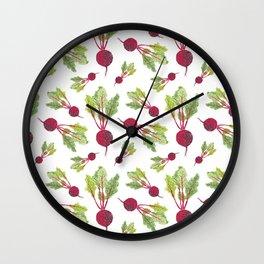 Feel the Beet in Radish White Wall Clock