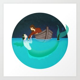 To Drown To Dream Art Print