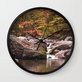 Autumn Brook Wall Clock