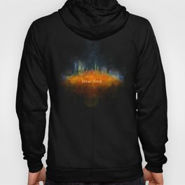 New York City Skyline Hq V04 Hoody
