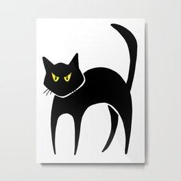 Halloween Black Cat Metal Print