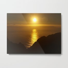 Sunset over the Canary islands Metal Print