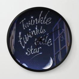 Twinkle Twinkle Little Star - Nursery Rhyme Inspired Art Wall Clock