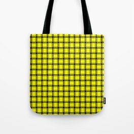 Small Yellow Weave Tote Bag