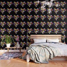 Pixel Heart Multicolor Love Wallpaper