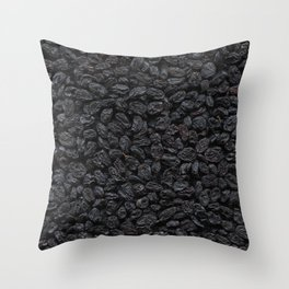 Dried grapes. Background. Throw Pillow