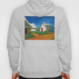 Three white cottages in Saintes-Maries by Vincent van Gogh Hoody