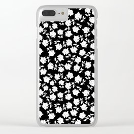 Demure Stems of Flowers Clear iPhone Case