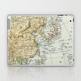 China, Russia, Japan Vintage Map Laptop & iPad Skin