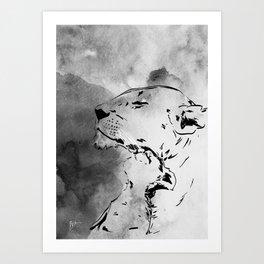 Lion Love Art Print