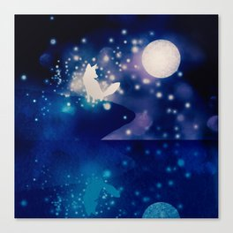 MOONLIGHT FOX Canvas Print