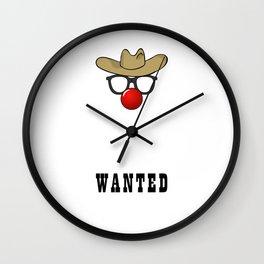 WANTED Wall Clock