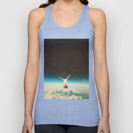 Falling with a hidden smile Unisex Tank Top