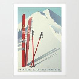 Ski New Hampshire Art Print