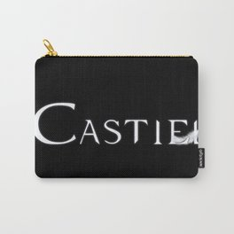 Castiel with Feather White Carry-All Pouch