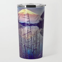 The Red in Deep Blue Travel Mug