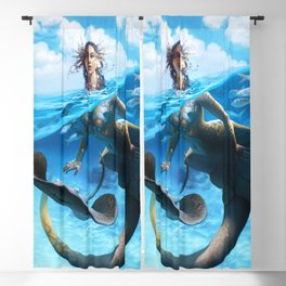 Ray Mermaid Blackout Curtain