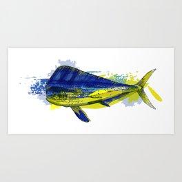 El Dorado, Dolphin, Mahi Mahi Art Print