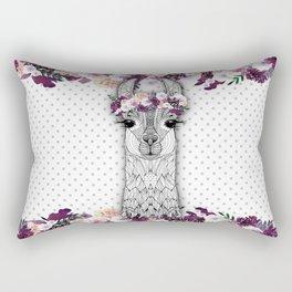 FLOWER GIRL ALPACA Rectangular Pillow