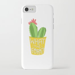 what the fork? cactus (The Good Place) iPhone Case