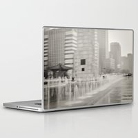 seoul Laptop & iPad Skins featuring Abstract Seoul by Zayda Barros