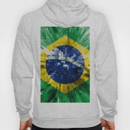 Extruded flag of Brazil Hoody