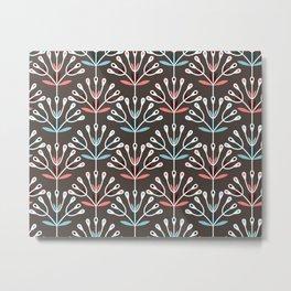 Daily pattern: Retro Flower No.7 Metal Print