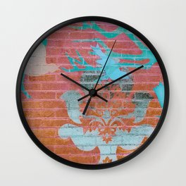 Wall Art Remix Red Ombre Wall Clock