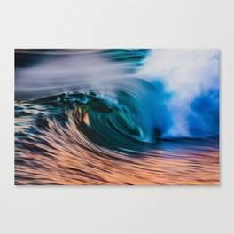 Slow Shutter Of Wave Canvas Print