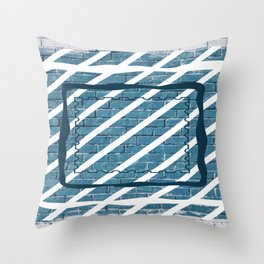 striped stamp Throw Pillow