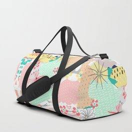 Modern creative abstract floral paint Duffle Bag