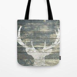 Rustic Deer Silhouette A311 Tote Bag