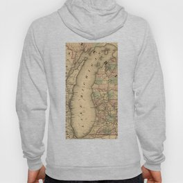 Vintage Map of Lake Michigan (1876) Hoody
