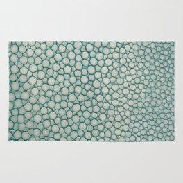 Green Shagreen Stingray Simulated Skin Rug