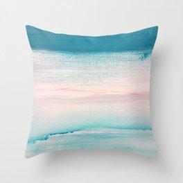Teal sea throw pillow Throw Pillow