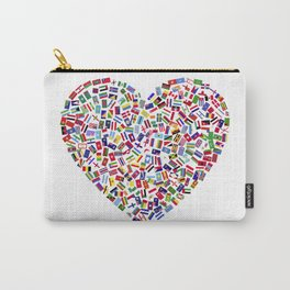 Heart flags countries Carry-All Pouch
