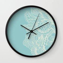 Abstract Nature In Aqua Wall Clock