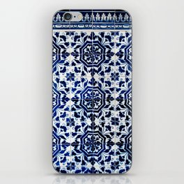 Cobalt Flourish iPhone Skin