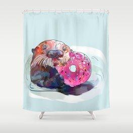 Otter Donut Shower Curtain