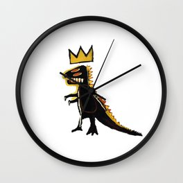 basquiat dinosaurus Wall Clock